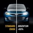 Комплект галогенных ламп H10 Argentum +80% 2шт.