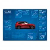 MTF light коврик синий DeskPad для офисного стола, ламинация, 60x40cm