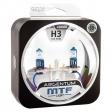 Комплект галогенных ламп H3 Argentum +80% 2шт.